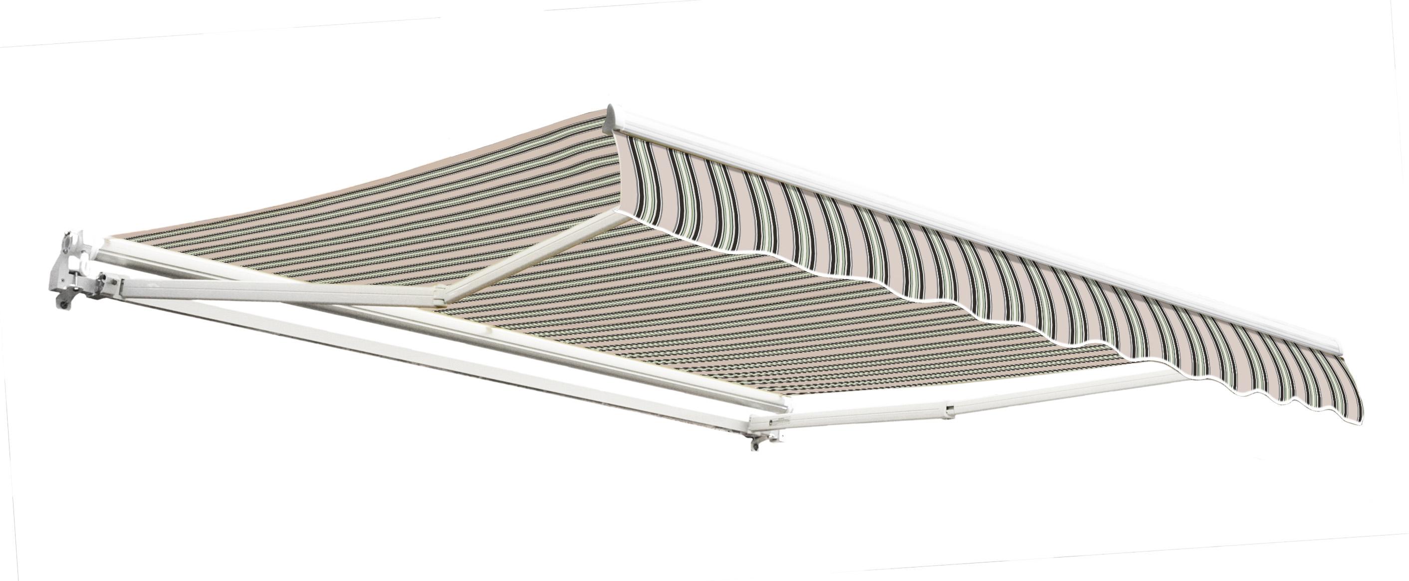 store banne budget manuel multi rayures 4m x 3m. Black Bedroom Furniture Sets. Home Design Ideas