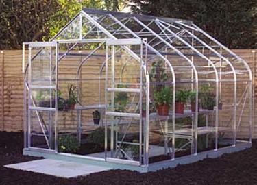 Serre de Jardin Halls Supreme 108 – 8.3m² Gris Argent en ...