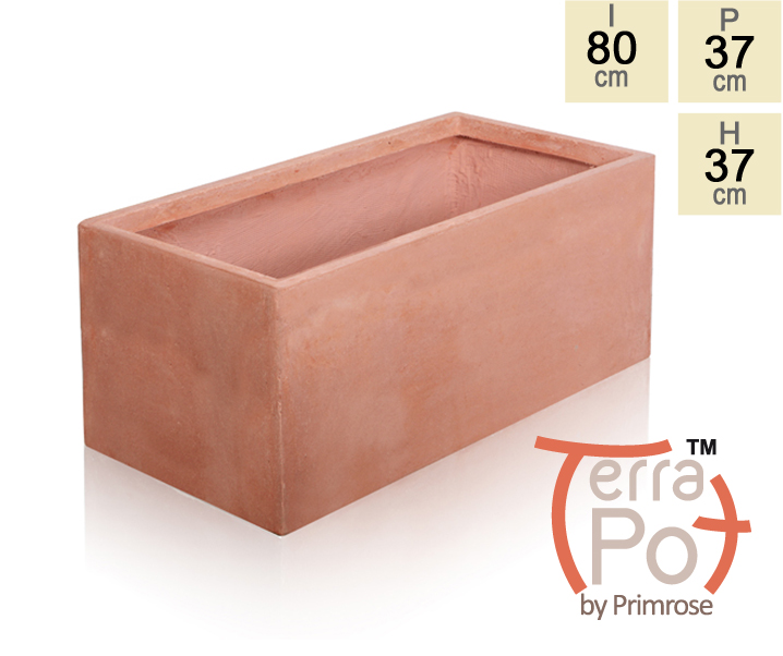 jardini re effet terre cuite grande 103 litres. Black Bedroom Furniture Sets. Home Design Ideas