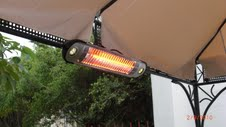 Wall Mounted Electric Halogen Patio Heater With LED Lights