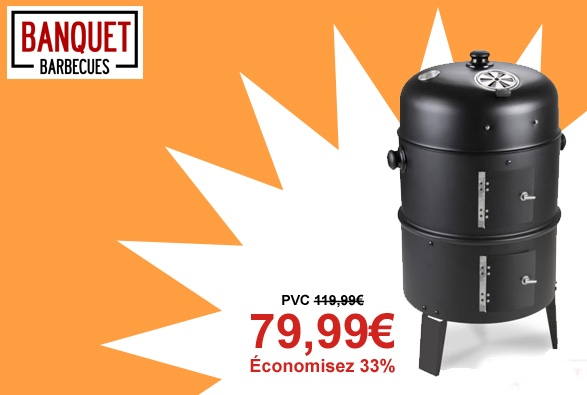 Barbecue � Charbon 3 en 1 Fumoir et Foyer