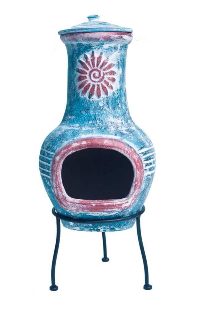 brasero mexicain en argile flora 72cm. Black Bedroom Furniture Sets. Home Design Ideas