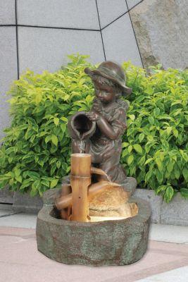 Fontaine d 39 ext rieur petite fille et cruche lumi re 209 99 for Petite fontaine exterieur
