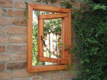 Miroir de jardin illusion petite fen tre 155 99 for Miroir forme fenetre