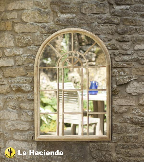 miroir de jardin victorien effet pierre 119 99. Black Bedroom Furniture Sets. Home Design Ideas