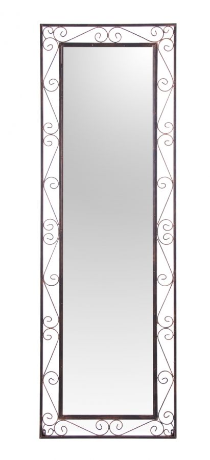 Grand miroir rectangulaire de jardin en m tal reflect 149 99 for Grand miroir metal