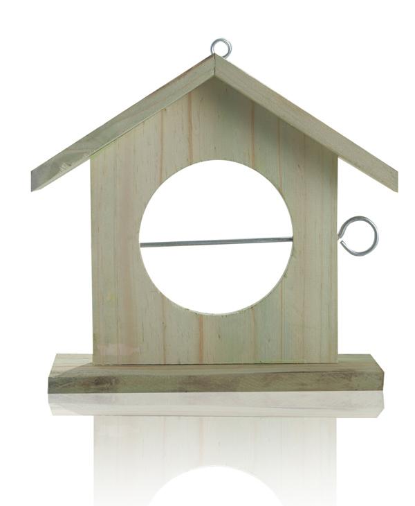 mangeoire pour oiseaux en bois rouge 23 99. Black Bedroom Furniture Sets. Home Design Ideas