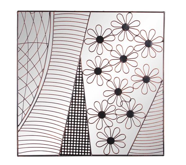 miroir en acrylique les jolies marguerites et cadre en m tal 79 99. Black Bedroom Furniture Sets. Home Design Ideas