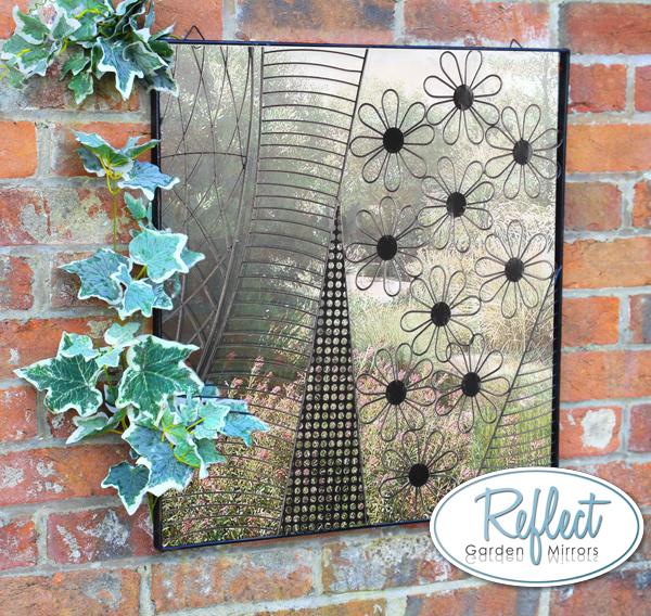 Miroir en acrylique les jolies marguerites et cadre en for Miroir en acrylique