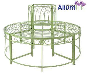 banc tour d 39 arbre alium ischia en acier cercle complet vert 309 99. Black Bedroom Furniture Sets. Home Design Ideas