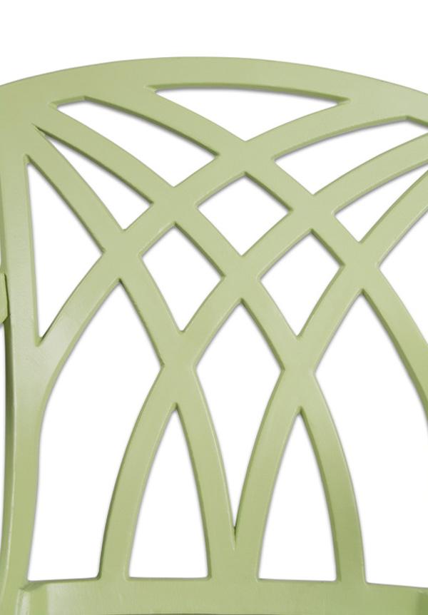 Salon De Jardin 4 Personnes Alium Washington En Fonte D 39 Aluminium Vert Sauge 449 99
