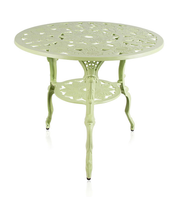 Ensemble meubles de jardin versailles blanc en fonte d 39 aluminium table ronde et 4 chaises 449 99 - Table jardin blanc versailles ...