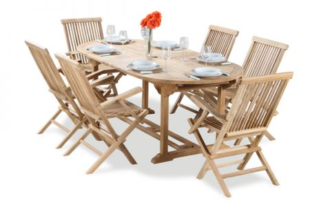 Salon De Jardin 6 Places Teck A Lakeland Table Extensible Ovale