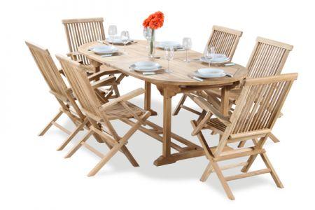Salon De Jardin 6 Places Teck A Lakeland Table Extensible Ovale