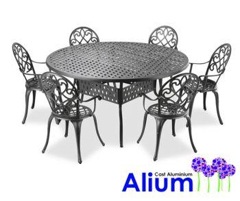 Ensemble de Meubles de Jardin Circulaire 6 places Alium ...