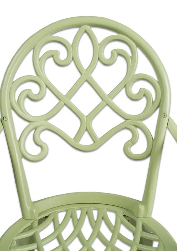 salon de jardin rectangulaire 6 places alium garfield en fonte d 39 aluminium vert sauge 909 99. Black Bedroom Furniture Sets. Home Design Ideas