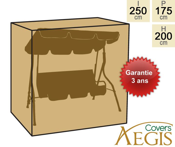 housse aegis balancelle 3 places deluxe 250x175x200cm 49 99. Black Bedroom Furniture Sets. Home Design Ideas