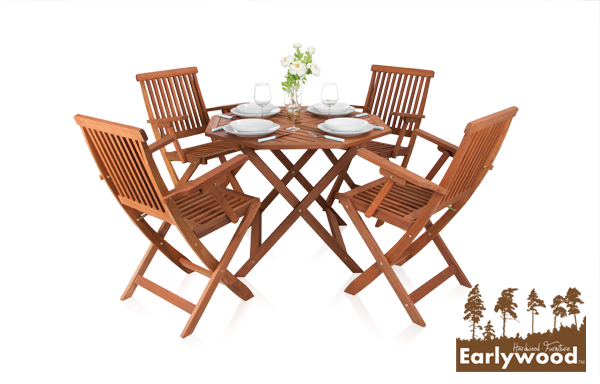salon de jardin bistrot 4 places avec fauteuils earlywood ilford 359 99. Black Bedroom Furniture Sets. Home Design Ideas