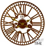 Horloge m�canique de jardin en m�tal - Finition rouille - 40cm - About Time�