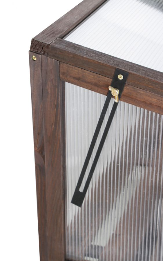 Petite serre deux portes cadre en bois lacewing for Petite porte bois