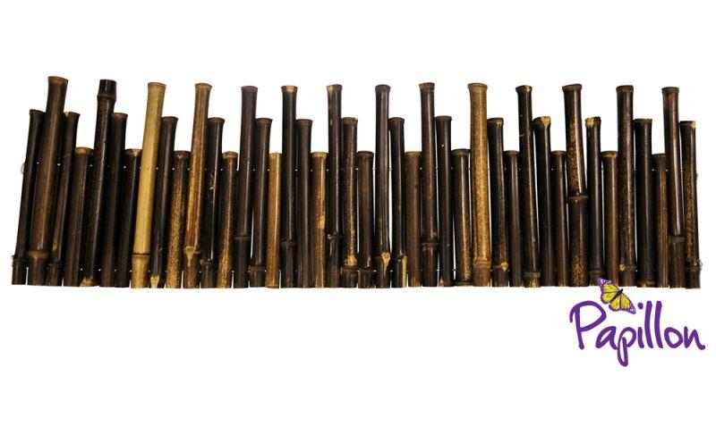 Bordures de jardin d rouler en bambou noir 50 rouleaux for Bordure de jardin en bambou