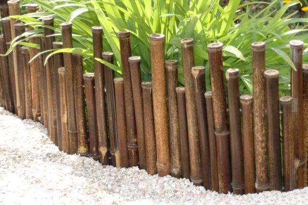 Bordures de jardin d rouler en bambou noir 1 rouleau for Bordure de jardin en bambou