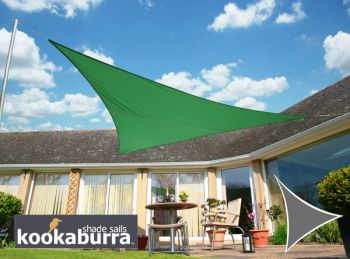 Voile d'Ombrage Vert Triangle Rectangle 4,2m - Imperm�able - 160g/m2 - Kookaburra