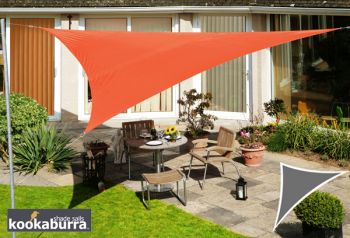 Voile d'Ombrage Terracotta Triangle Rectangle 4,2m - Imperm�able - 160g/m2 - Kookaburra