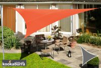 Voile d'Ombrage Terracotta Triangle 3m - Imperm�able - 160g/m2 - Kookaburra