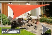 Voile d'Ombrage Terracotta Triangle 3,6m - Imperm�able - 160g/m2 - Kookaburra