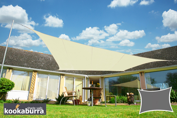 Voile d'Ombrage Ivoire Rectangle 4x3m - Imperm�able - 160g/m2 - Kookaburra