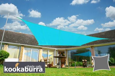 Voile d'Ombrage Azur Rectangle 5x4m - Imperm�able - 160g/m2 - Kookaburra