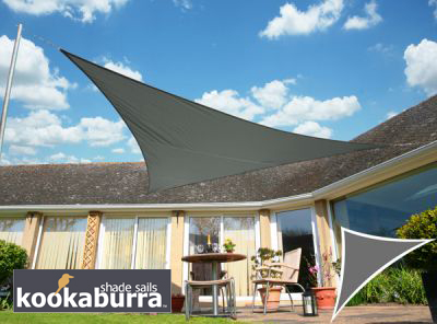 Voile d'Ombrage Charbon Triangle Rectangle 4,2m - Imperm�able - 160g/m2 - Kookaburra