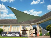 Voile d'Ombrage Vert Menthe Triangle 5m - Imperm�able - 160g/m2 - Kookaburra