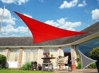 Voile d'Ombrage Rouge Triangle 3,6m - Imperm�able - 160g/m2 - Kookaburra