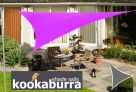 Voile d'Ombrage Violet Triangle 5m - Imperm�able - 160g/m2 - Kookaburra