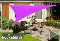 Voile d'Ombrage Violet Triangle 3,6m - Imperm�able - 160g/m2 - Kookaburra