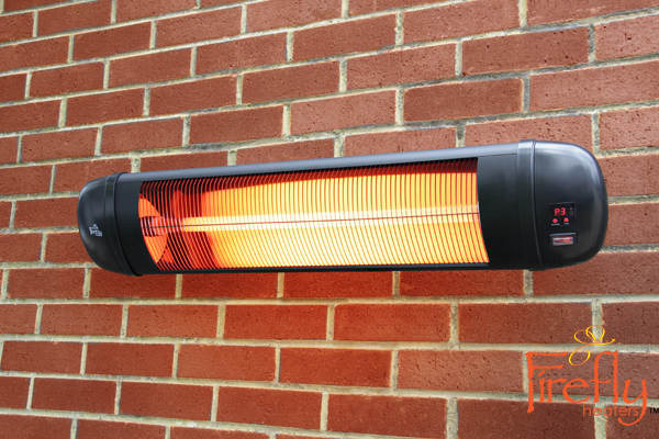 Chauffage mural infrarouge 2kw t l command firefly 89 99 for Chauffage infrarouge exterieur mural