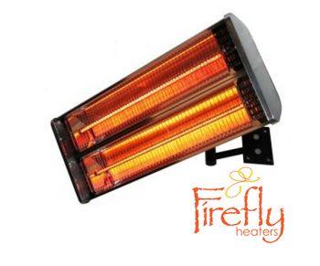 Chauffage ext rieur lectrique 2kw deux lampes ip55 for Lampe exterieur electrique