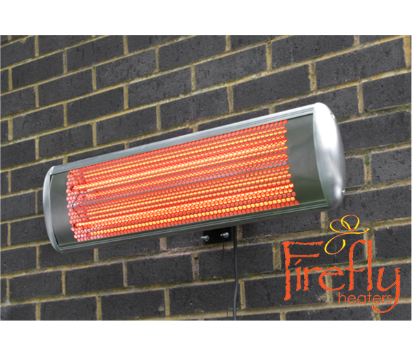 Firefly chauffage ext rieur lectrique mural 1 8kw ip55 for Chauffage exterieur electrique