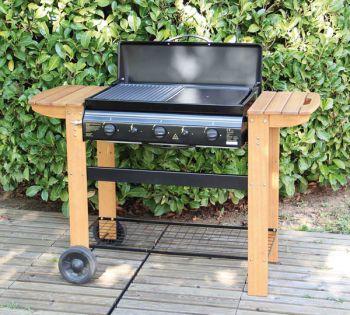 barbecue gaz 3 bruleurs plancha