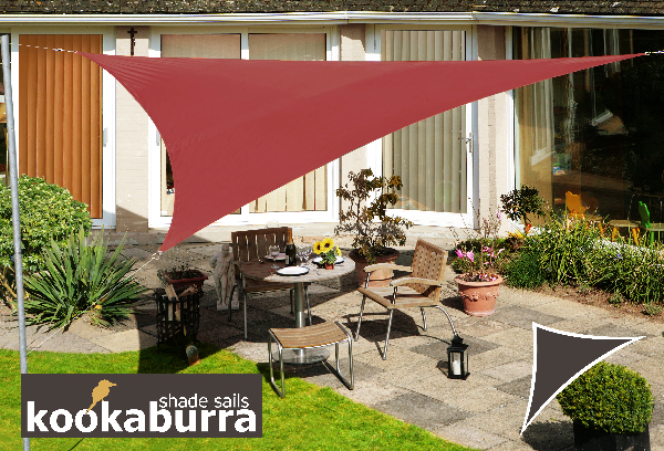 Voile d'Ombrage Marsala Triangle 3m - Imperm�able - 160g/m2 - Kookaburra