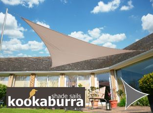 Voile d'Ombrage Taupe Triangle Rectangle 4,2m - Imperméable - 160g/m2 - Kookaburra®