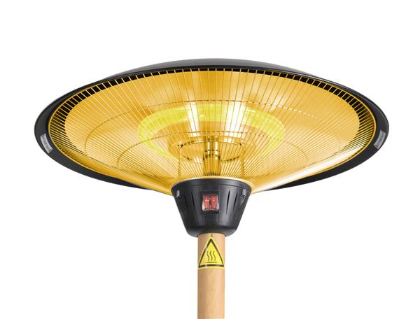 parasol chauffant electrique firefly avec m t et socle. Black Bedroom Furniture Sets. Home Design Ideas