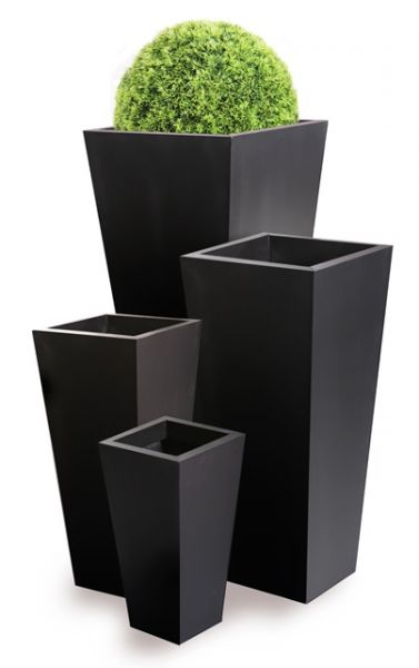 grand cache pot vas effet fonte noire grand 74 99. Black Bedroom Furniture Sets. Home Design Ideas
