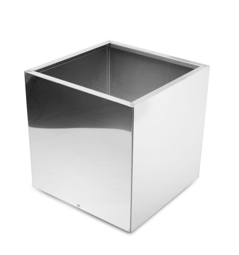 cache pot cube en acier inoxydable effet miroir 50cm 199 99
