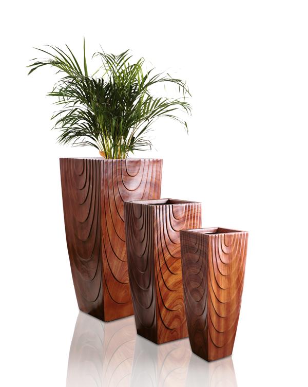 haute jardini re carr en fibre de verre effet bois h. Black Bedroom Furniture Sets. Home Design Ideas