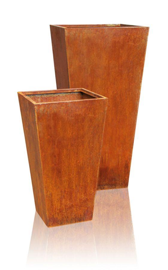 cache pot acier corten vas hauteur 90cm x largeur 44cm 194 99. Black Bedroom Furniture Sets. Home Design Ideas