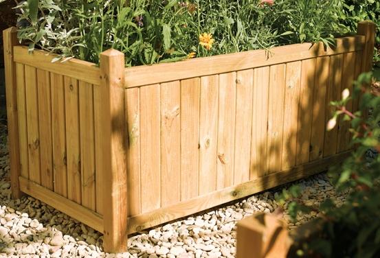 Jardinière rectangulaire en bois 109,99€