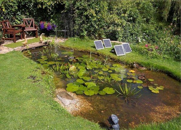 Kit pompe solaire 1550 lph avec led blanche 159 99 for Agencement jardin